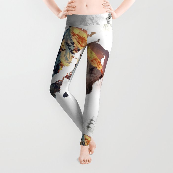 Save bears in nature Leggings
