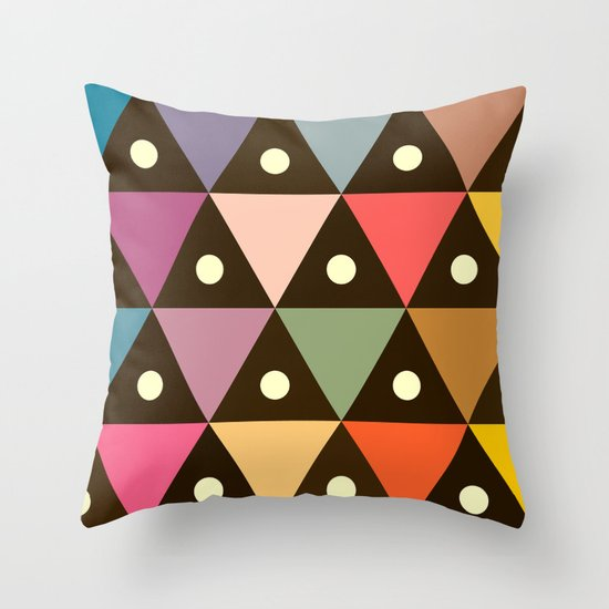 Cosmic Triangles Throw Pillow