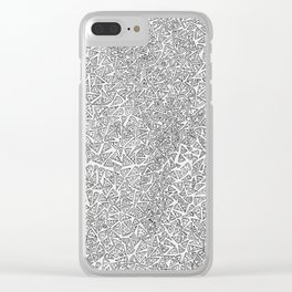 2D Pizza Clear iPhone Case