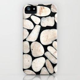 Light Stone Pattern Against Black iPhone Case