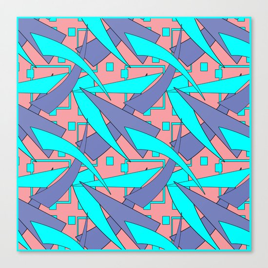 Creative abstract pattern . Geometric shapes . Canvas Print