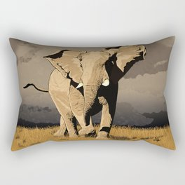 The Elephant's Marching Rectangular Pillow