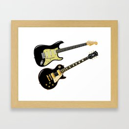 Elecric Guitars Framed Art Print