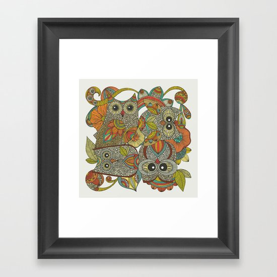 4 Owls Framed Art Print