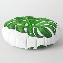 Monstera Leaf Paintings Floor Pillow