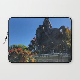 Statue Amongst the Changing Colors Laptop Sleeve