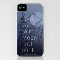 I love you to the moon and back Slim Case iPhone (4, 4s)
