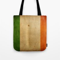 ireland Tote Bags featuring Ireland by NicoWriter