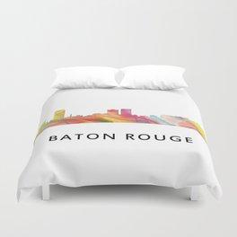 Baton Rouge Louisiana Skyline Duvet Cover