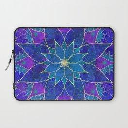 Lotus 2 - blue and purple Laptop Sleeve