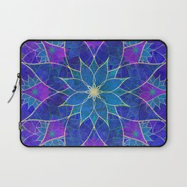 Lotus 2 - blue and purple Laptop Sleeve