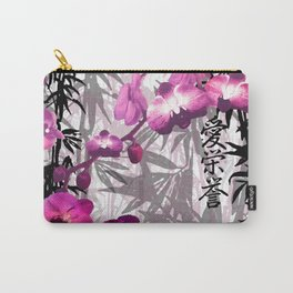 Bamboo Orchids Carry-All Pouch