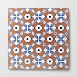 Moroccan Tile - poppy Metal Print