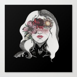 Zodiac sign - Virgo (Illustration) Canvas Print