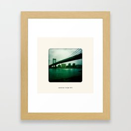 Manhattan Bridge 2010 Framed Art Print