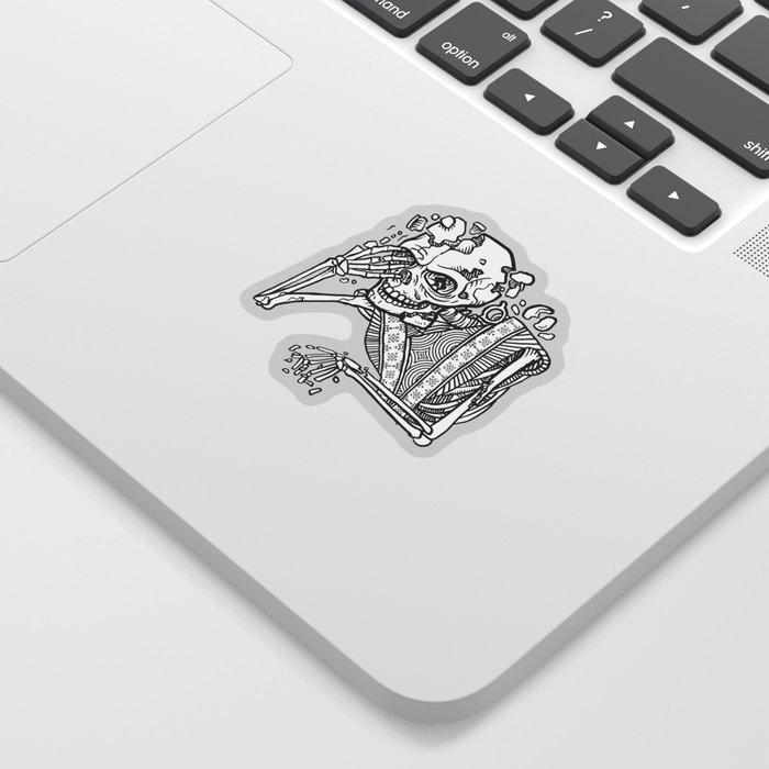 Anxiety Skeleton Sticker