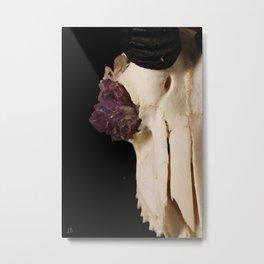 Crystal Skull Metal Print