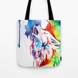 Rainbow Wolf Tote Bag