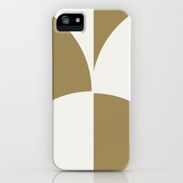Diamond Series Round Checkers White on Gold iPhone Case