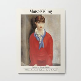Vintage poster-Moïse Kisling- The girl in the red sweater. Metal Print