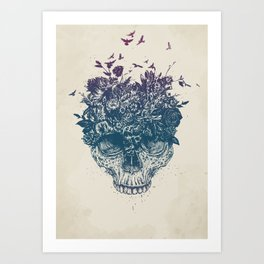 My head is a jungle Art Print