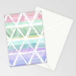 Colored Lines in Triangle Stationery Cards