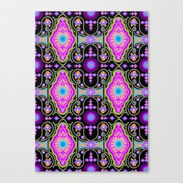 exotic happiness medallions Canvas Print