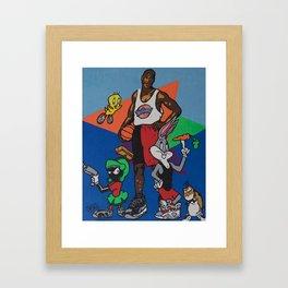 Space Jam Shoes Framed Art Print