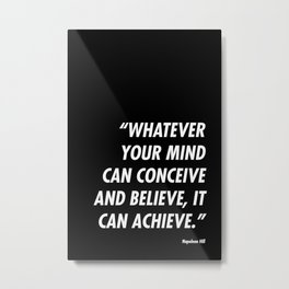 Conceive-Believe-Achieve Metal Print
