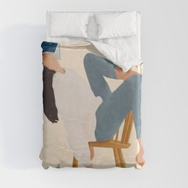 Lost in my books Duvet Cover