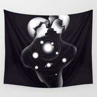 egg Wall Tapestries featuring Cosmic Egg Shell by Tobe Fonseca