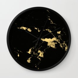 Black Marble #5 #decor #art #society6 Wall Clock