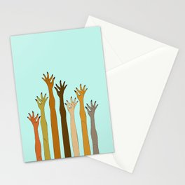Hands Don't Judge - Size Don't Matter ... NOT! ;) Stationery Cards