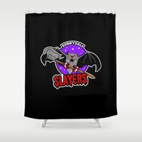 buffy Shower Curtains featuring  Slayers by Buby87