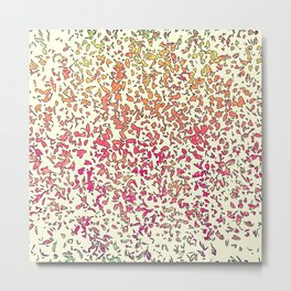 Modern Abstract Orange Yellow Shatter Splatter Metal Print