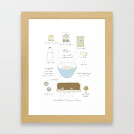 Cinnamon Buns - Illustrated Recipe Framed Art Print