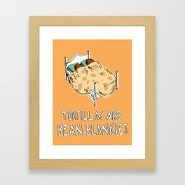 Bean Blankets Framed Art Print