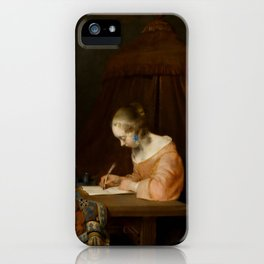 "Gerard ter Borch ""Woman writing a letter"" iPhone Case"