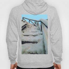 Snowy stairway Hoody