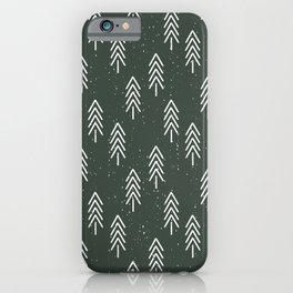 Pine Trees . Olive iPhone Case