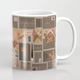 Snail Mail Pattern Dark Coffee Mug