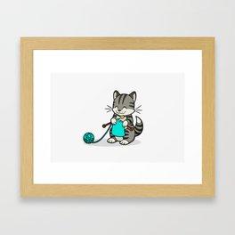 Knitty Kitty Framed Art Print