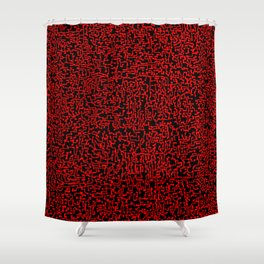 thought 2, red on black Shower Curtain