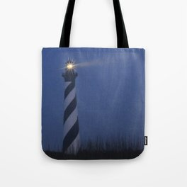 Cape Hatteras at night Tote Bag