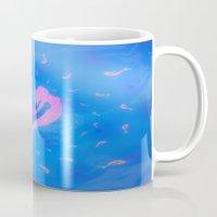 mermaids Mugs featuring mermaids by Laura Santeler