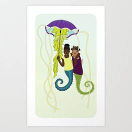 Aflan and Chaz Art Print