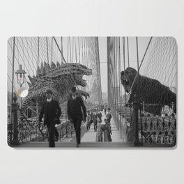 Old Time Godzilla vs. King Kong Cutting Board