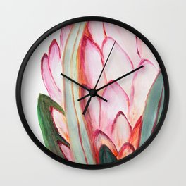 Protea in pink Wall Clock