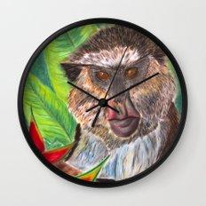 Mona Monkey Wall Clock
