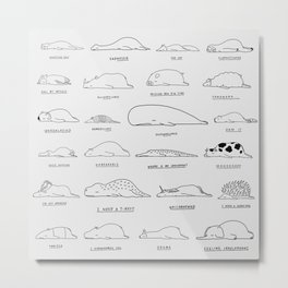 Moody Animals Pattern Metal Print